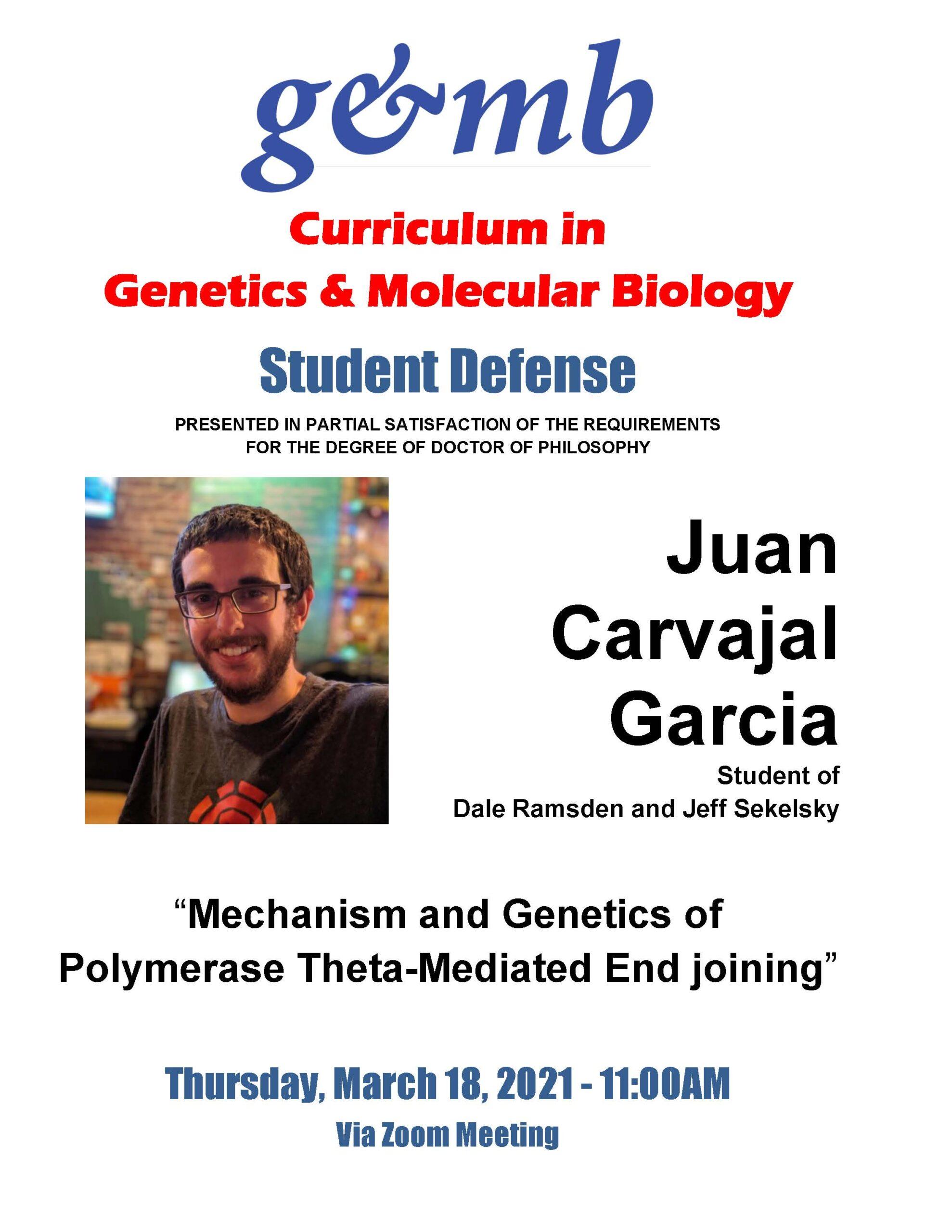 Carvajal Garcia_Juan Defense Announcement 20 0318